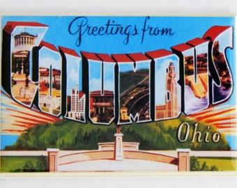 Greetings from Columbus Ohio Fridge Magnet