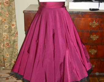 Full Swing Party Skirt in WINE available in 76 colors matte or shiny all sizes same price