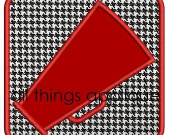 Megaphone Patch 2 Applique Design - Satin, Zig Zag AND Bean Stitch - INSTANT DOWNLOAD