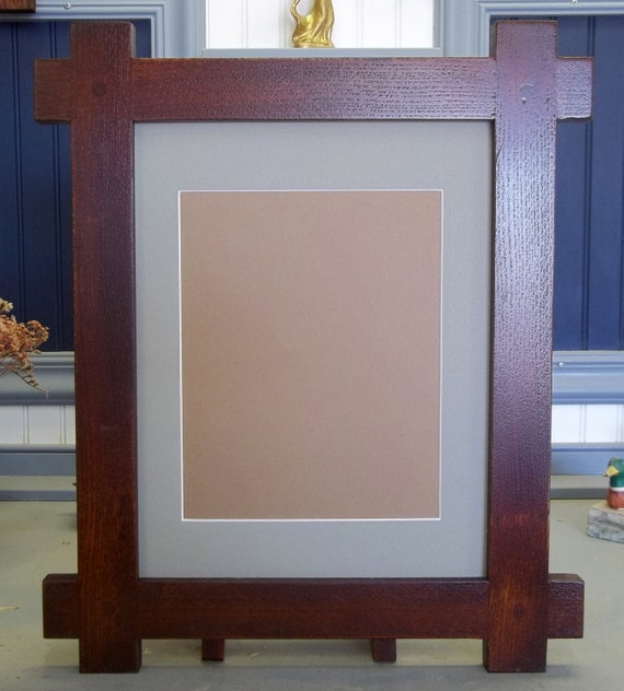 """Arts& Crafts Mission Style 11"""" X 14"""" Handcrafted Frame ..."""