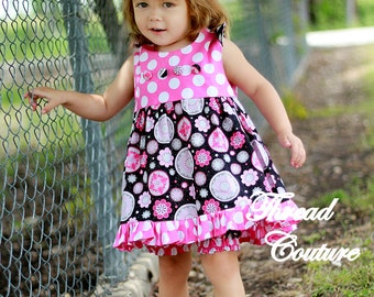 Ruffled Top/Dress Sewing Pattern, Mia Ruffled Top, Newborn to 6 Years