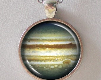 Planet Necklace, Jupiter Pendant Necklace - Astronomical, Star, Cosmic, Universe, NASA- Galaxy Pendant Series