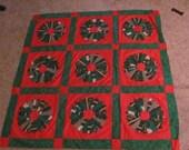Christmas Dresden Plate quilt top