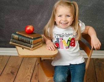 Preschool Diva Shirt - Embroidered Preschool Shirt - Back To School Shirt