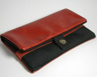 "Wallet, Tobacco pouch,  Mobile Phone pouch ""redbrown leather"""