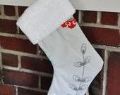 READY TO SHIP Christmas Stocking Harmony  Emma no.129