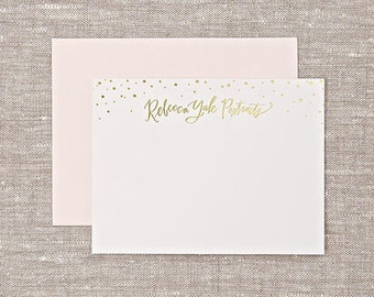 Foil-stamped customized notecards - qty 200 with envelopes