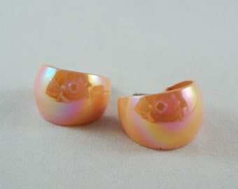 Vintage Peach Hoop Earrings