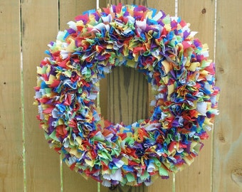 Choose Your Colors Wreath - Custom Wreath - Indoor Outdoor Wreath - Waterproof Wreath - Spring Wreath - Multicolor Wreath - Wedding Wreath