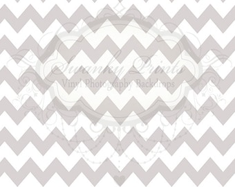 NEW ITEM 5ft x 3ft Vinyl Photography Backdrop / Silver Chevron / LARGE Thick Chevron