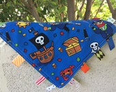 Pirates Tag Blanket with your choice of minky  // In Stock, READY TO SHIP