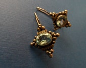 Vintage Sterling and Topaz Earrings