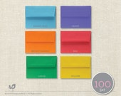 CLOSEOUT!!! 100 Bright A7 Envelopes (Fit 5x7 Invites, Inserts, Photos)