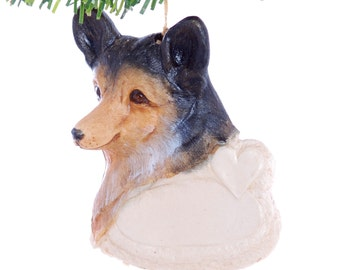 Personalized Christmas Ornament  Welch Corgi Ornament personalized with your dogs name - made in the USA (d08)