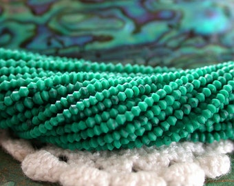 Malachite Beads, EXTREMELY TINY .5mm to 2 mm Hand Cut Bione Beads, Reconstituted African Malachite Beads SP-227