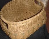 Hand Woven Double Weave Algonquin Shelf Basket