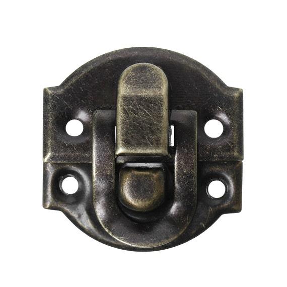 bronze hinge lock latch jewelry box 30x27mm 10 sets