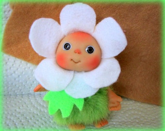 Daisy  Flower , Cute Baby Doll, Decoration for home Christmas, Lucky Charm
