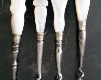 Playboy Estate Mother of Pearl Victorian Perfume Corkscrews sold as set or individually