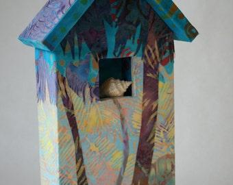 Batik fabric original wall art miniature