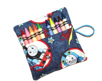 Crayon Rolls, Thomas Train Crayon Roll holds up to 10 Crayons,  PARTY FAVORS Crayon Rolls