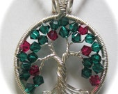 Little Swarovski Apple Tree of Life, Crystal Apple Tree, Wire Wrapped Apple Tree of Life