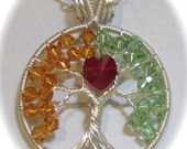 Tree of Life for Couples, Anniversary Gift, Couples Custom Swarovski Crystal Tree of Life