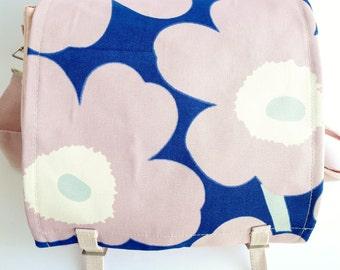 Large Messenger Bag - Marimekko - Poppy Unikko - Pink Flowers