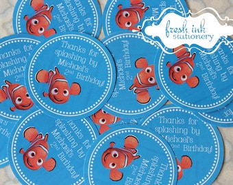 Finding Nemo Thank You Stickers