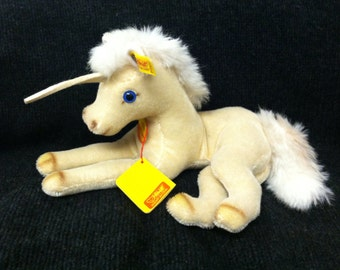 Collectors Edition Genuine Mohair Steiff Unicorn- 0130/27