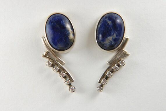 Statement Earrings Metalwork Earrings Art Jewelry Natural Stone Earrings Artisan Earrings Metalwork Jewelry