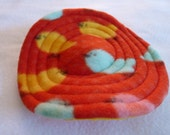 Fleece Mini Flying Saucer - Bird Print