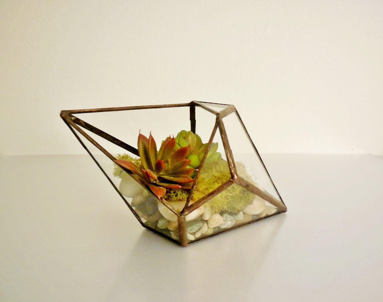 how to make geometric glass terrarium