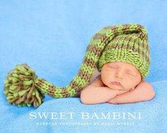 Chunky Knit Striped Stocking Hat - Newborn