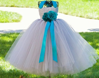 Frosted Platinum Tutu Dress- Grey/Silver