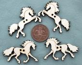 Four Wooden Decorative Horse Buttons/Cut-outs