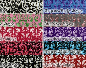 Damask 5/8th inch Elastic, Damask Elastic for Hair Accessories - 5 yards - you choose colors
