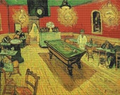 Vincent Van Gogh 'Night Cafe'- Counted Cross Stitch Kit - DMC materials