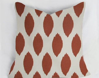 Arizona Rust  Ikat -  Decorative Pillow Cushion Cover - Accent Pillow - Throw Pillow - Natural, rust