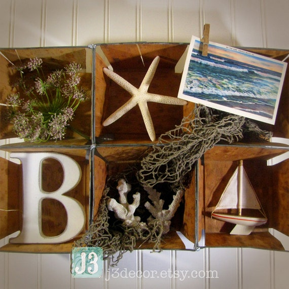 Beach House Decor Items: Items Similar To Cottage Beach Nautical Collage Wall Art
