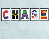 Individual Superhero Character letters -Digital File