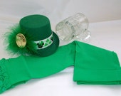 Irish Mini Top Hat n Leggings....18 Months - 4T... St. Patrick's Day Mouse Ears Photo Prop