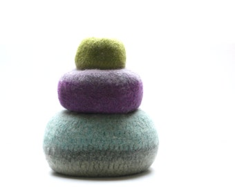 WOOLY FELTED Pod Bowls - wooly pods to put your stuff into