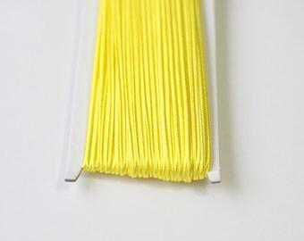 5.5 yards neon yellow Soutache Braid, Passementerie Braid, embroidery, Soutache cord, Passementerie cord Trim, gimp cord, russian braid