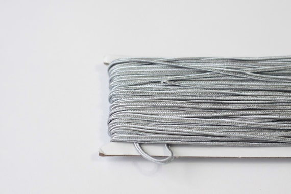 5.5 yards metalic Grey Soutache Braid, Passementerie Braid, embroidery, Soutache cord, Passementerie cord Trim, gimp cord, russian braid