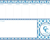 CCES Personalized Weekly Planners