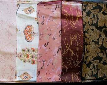 Silk Fat Quarters, Silk Fabric, Sari Silk FQ 15