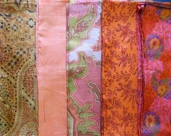 Silk Fat Quarters, Silk Fabric, Sari Silk FQ 16