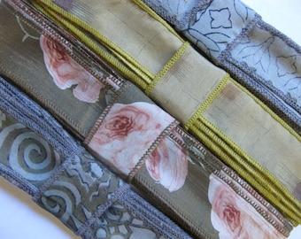 4 Colors of Mixed Silk Ribbon, A47