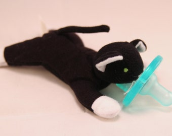 Teeny mini zip cat pacifier holder pacimal - you choose the pacifier